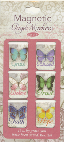 Butterfly Blessings Magnetic Bookmarks